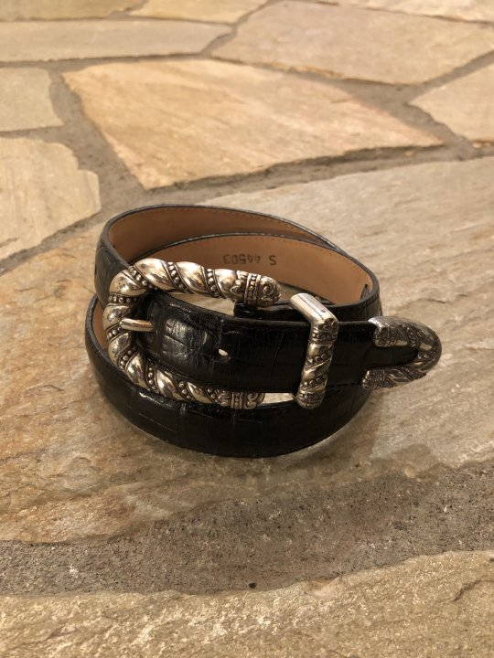 Vintage Black Leather Belt S 44503<img class='new_mark_img2' src='https://img.shop-pro.jp/img/new/icons50.gif' style='border:none;display:inline;margin:0px;padding:0px;width:auto;' />