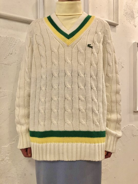 Vintage Lacoste Tilden Sweater M/L<img class='new_mark_img2' src='https://img.shop-pro.jp/img/new/icons50.gif' style='border:none;display:inline;margin:0px;padding:0px;width:auto;' />