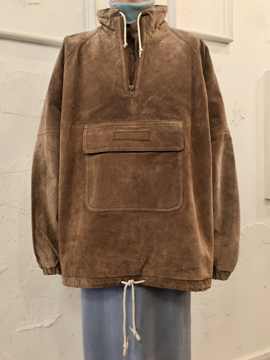 Vintage Suede Pull Over Jacket L<img class='new_mark_img2' src='https://img.shop-pro.jp/img/new/icons50.gif' style='border:none;display:inline;margin:0px;padding:0px;width:auto;' />