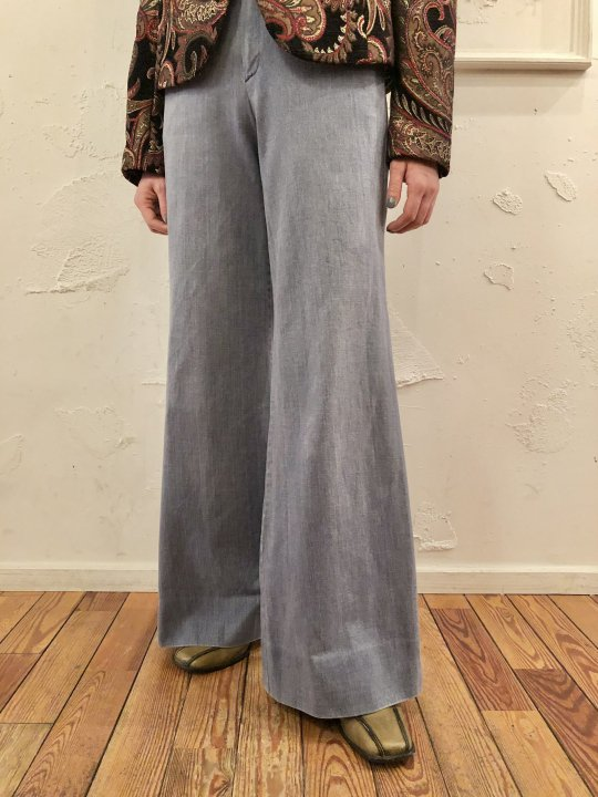 Vintage Denim Flare Pants S<img class='new_mark_img2' src='https://img.shop-pro.jp/img/new/icons50.gif' style='border:none;display:inline;margin:0px;padding:0px;width:auto;' />