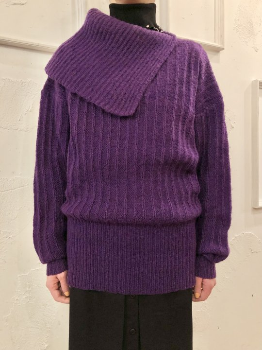 Vintage Purple Mohair Design Sweater S
