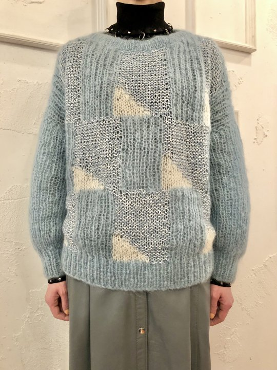 Vintage Mohair Hand Knit Sweater Pale Blue M<img class='new_mark_img2' src='https://img.shop-pro.jp/img/new/icons50.gif' style='border:none;display:inline;margin:0px;padding:0px;width:auto;' />