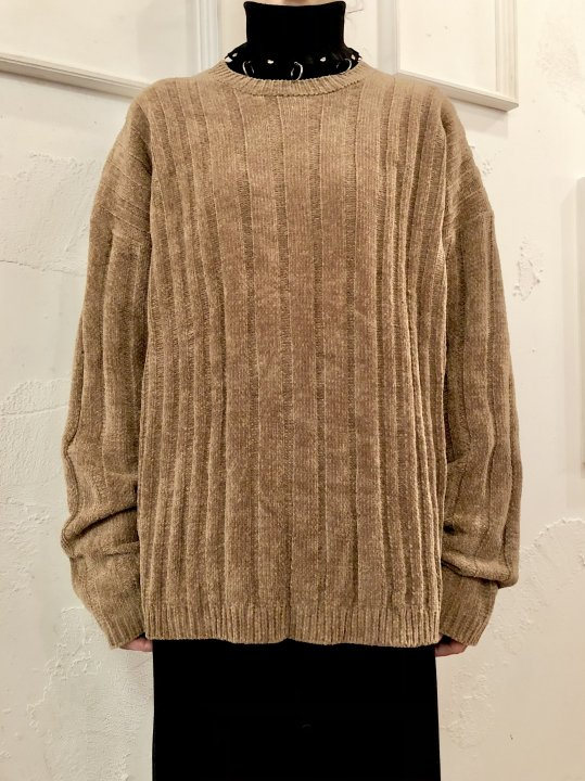 Vintage Gold Brown Mole Knit Sweater L