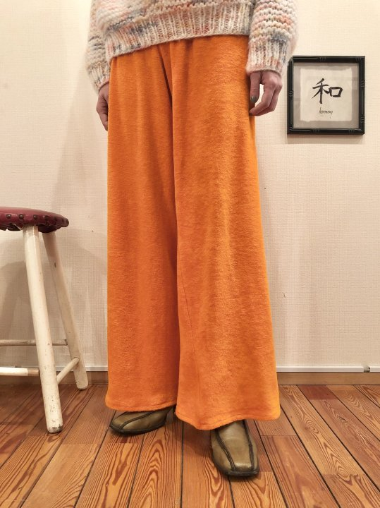 Vintage Orange Pile Flare Easy Pants L