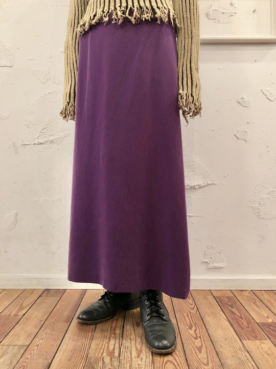 Vintage Purple Rayon Long Skirt S<img class='new_mark_img2' src='https://img.shop-pro.jp/img/new/icons50.gif' style='border:none;display:inline;margin:0px;padding:0px;width:auto;' />