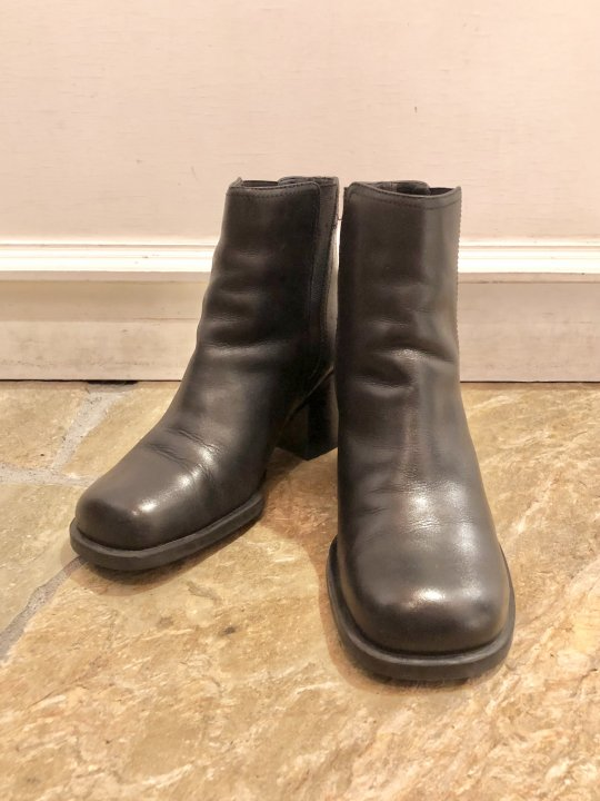 Vintage Black Leather Side Goa Heel Boots 25.0cm<img class='new_mark_img2' src='https://img.shop-pro.jp/img/new/icons50.gif' style='border:none;display:inline;margin:0px;padding:0px;width:auto;' />