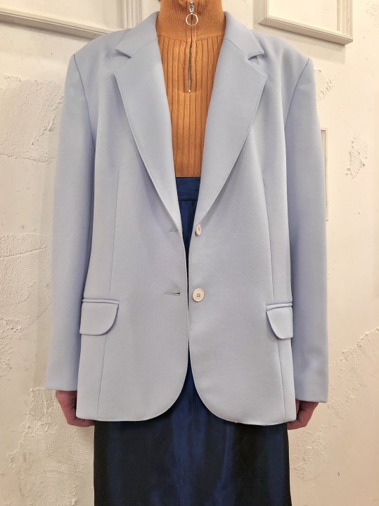 Vintage Pale Blue Tailored Jacket M