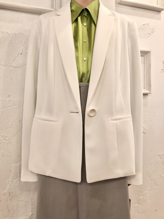 Vintage/DeadStock White Tailored Jacket M<img class='new_mark_img2' src='https://img.shop-pro.jp/img/new/icons50.gif' style='border:none;display:inline;margin:0px;padding:0px;width:auto;' />
