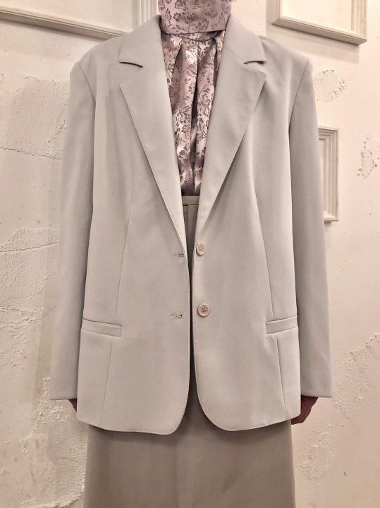 Vintage Pale Gray Tailored Jacket M