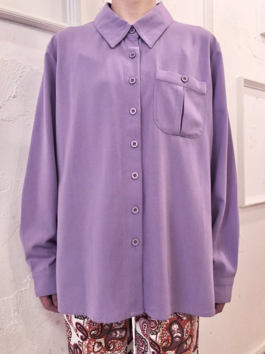 Vintage Lilac Faux Suede Shirt M