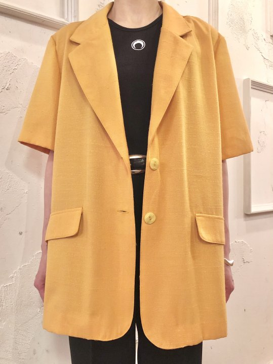 Vintage Mustard S/S Tailored Jacket L<img class='new_mark_img2' src='https://img.shop-pro.jp/img/new/icons50.gif' style='border:none;display:inline;margin:0px;padding:0px;width:auto;' />