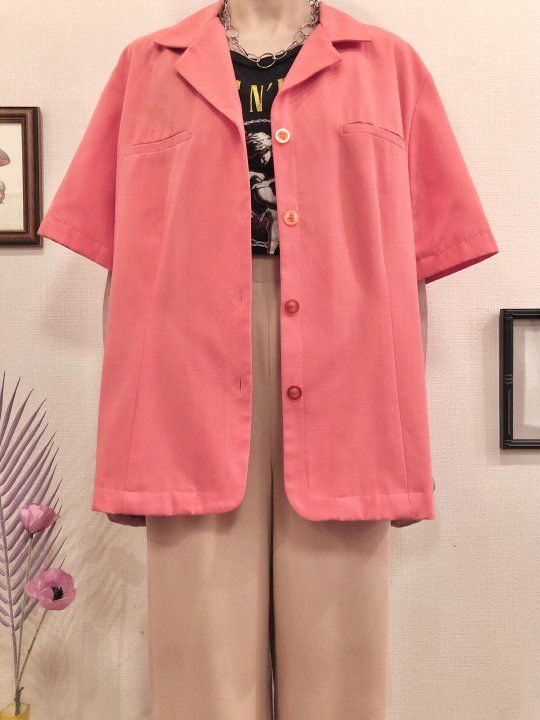 Vintage/DeadStock Salmon Pink S/S Tailored Jacket L