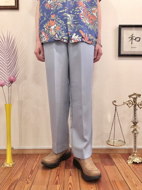 Vintage Pale Blue Easy Slacks  M<img class='new_mark_img2' src='https://img.shop-pro.jp/img/new/icons50.gif' style='border:none;display:inline;margin:0px;padding:0px;width:auto;' />