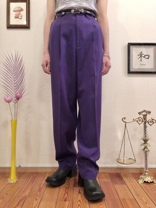 Vintage Purple Slacks L<img class='new_mark_img2' src='https://img.shop-pro.jp/img/new/icons50.gif' style='border:none;display:inline;margin:0px;padding:0px;width:auto;' />