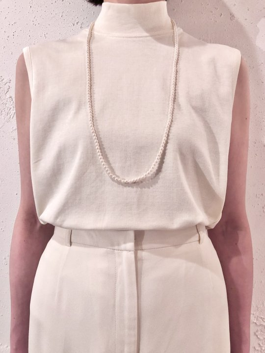 Vintage Thin Pearl Long Necklace