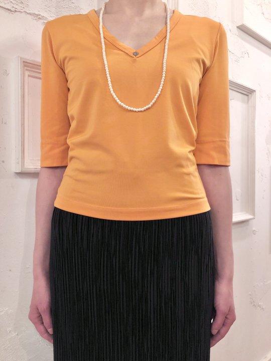 Vintage Calvin Klein Orange Stretch S/S Top M
