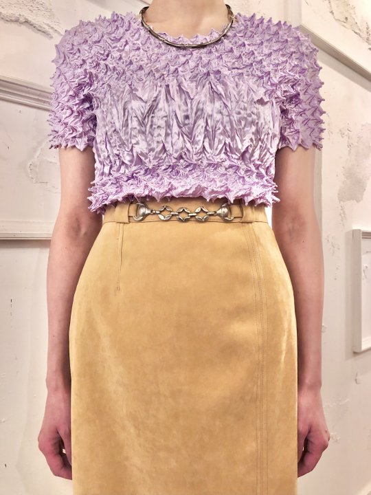 Vintage Lilac Spiked Design S/S Top