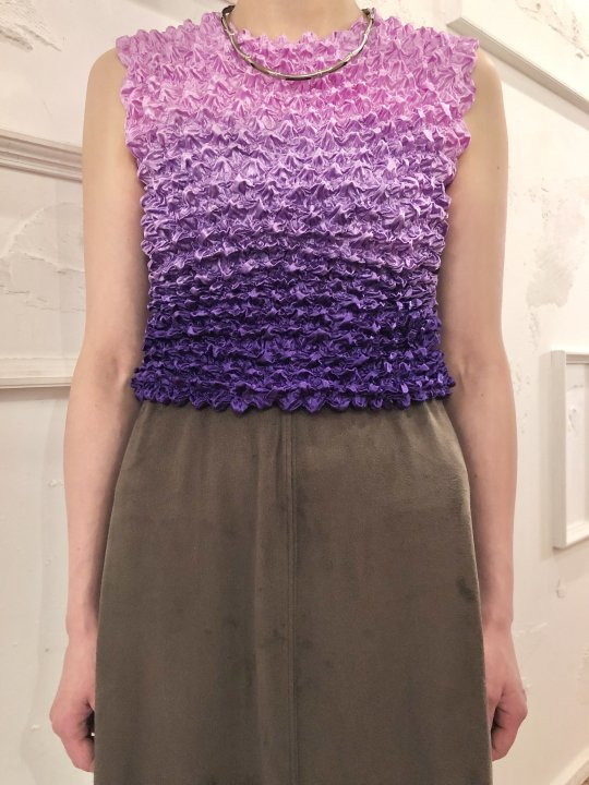 Vintage Purple Gradation N/S Spiked Top<img class='new_mark_img2' src='https://img.shop-pro.jp/img/new/icons50.gif' style='border:none;display:inline;margin:0px;padding:0px;width:auto;' />
