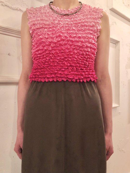 Vintage Pink Gradation N/S Spiked Tops