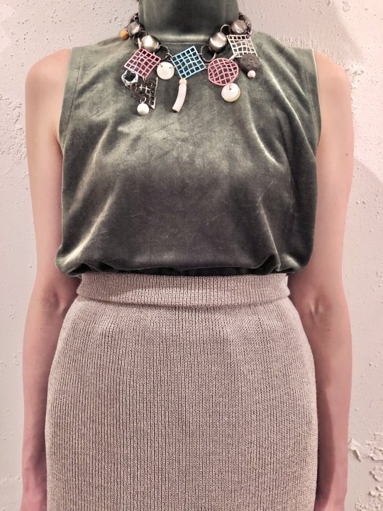 Vintage OLYMPIA GIBSON Memphis Design Necklace