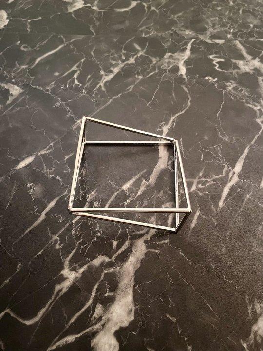Vintage Silver Cubic Design Bangle
