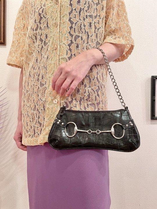 Vintage Black Horse Bit Design Hand Bag