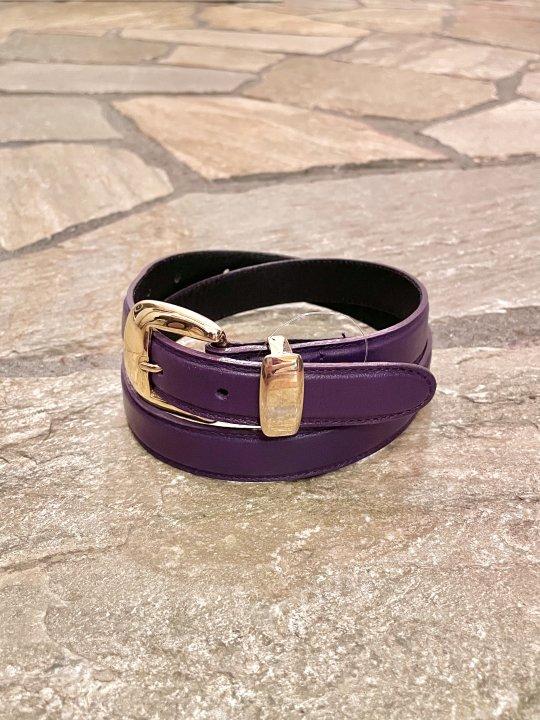 Vintage Purple Leather Belt M