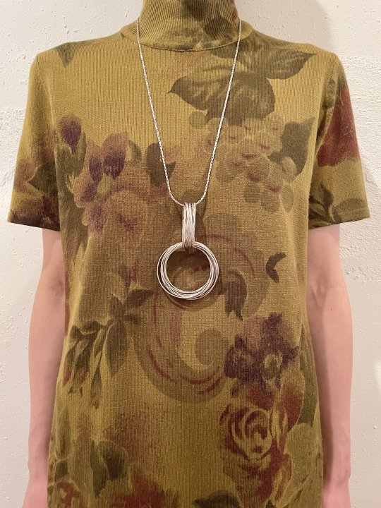 Vintage Layered Design Double Ring Necklace