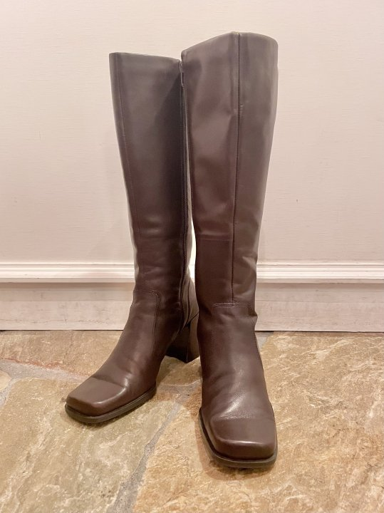 Vintage Dark Brown Leather Long Heel Boots 25.0cm<img class='new_mark_img2' src='https://img.shop-pro.jp/img/new/icons50.gif' style='border:none;display:inline;margin:0px;padding:0px;width:auto;' />