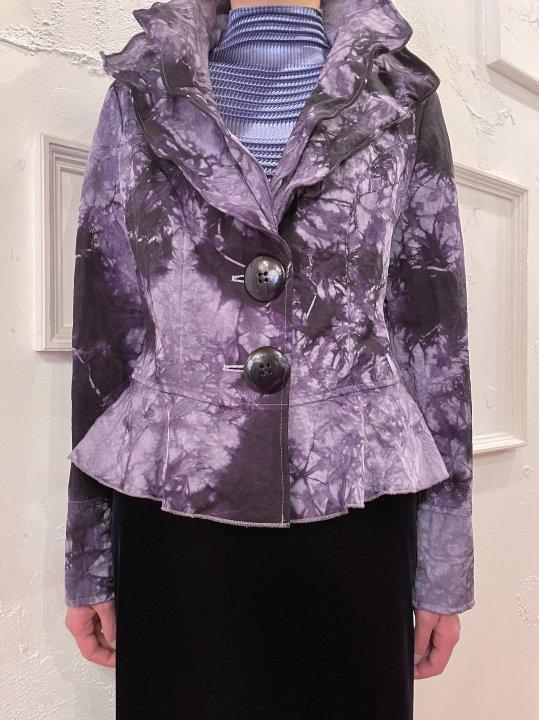 Vintage Purple Tie Dye Nylon Design Jacket M