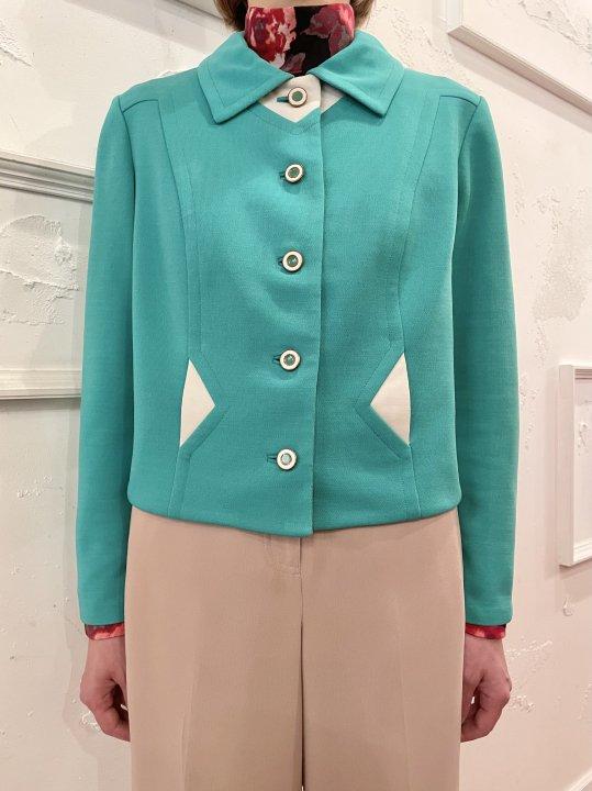 Vintage Kelly Green Short Design Jacket S