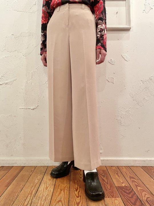 Vintage Beige Wide Flare Slacks M