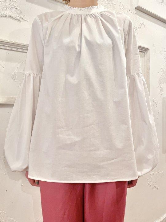 Vintage White Balloon Sleeve Pullover Shirt M