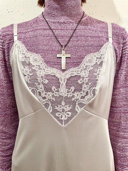 Vintage Silver Cross Top Necklace