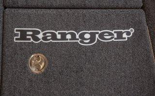 【Ranger Boats レンジャーグッズ】60×8.75/RANGER CARPET DECAL - BLACK LINEAR LOGO