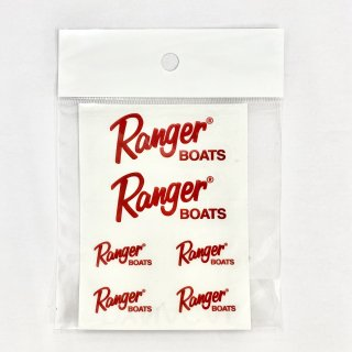 <img class='new_mark_img1' src='https://img.shop-pro.jp/img/new/icons1.gif' style='border:none;display:inline;margin:0px;padding:0px;width:auto;' />【Ranger Boats レンジャーグッズ】レンジャーボートロゴステッカー6枚セット